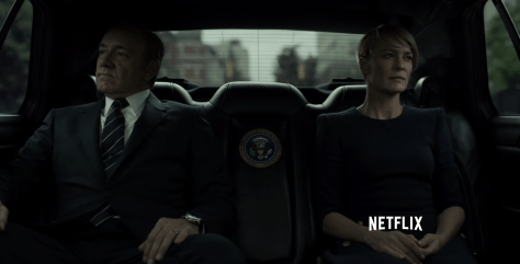 Kevin Spacey & Robin Wright in House of Cards seizoen 3