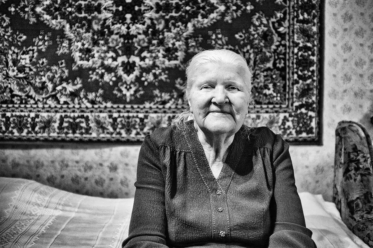 "Maria, age 87. Profession: Packer. Passion or Dream: ""I dream of being able to walk on my own legs until the very end."""