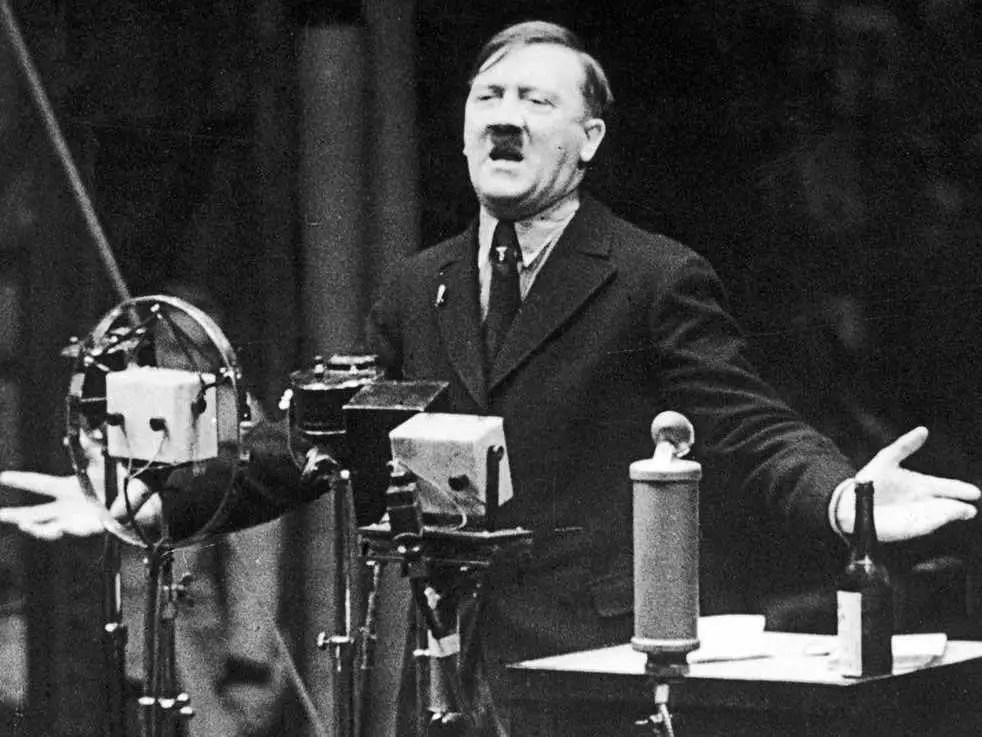 Image result for hitler speaking