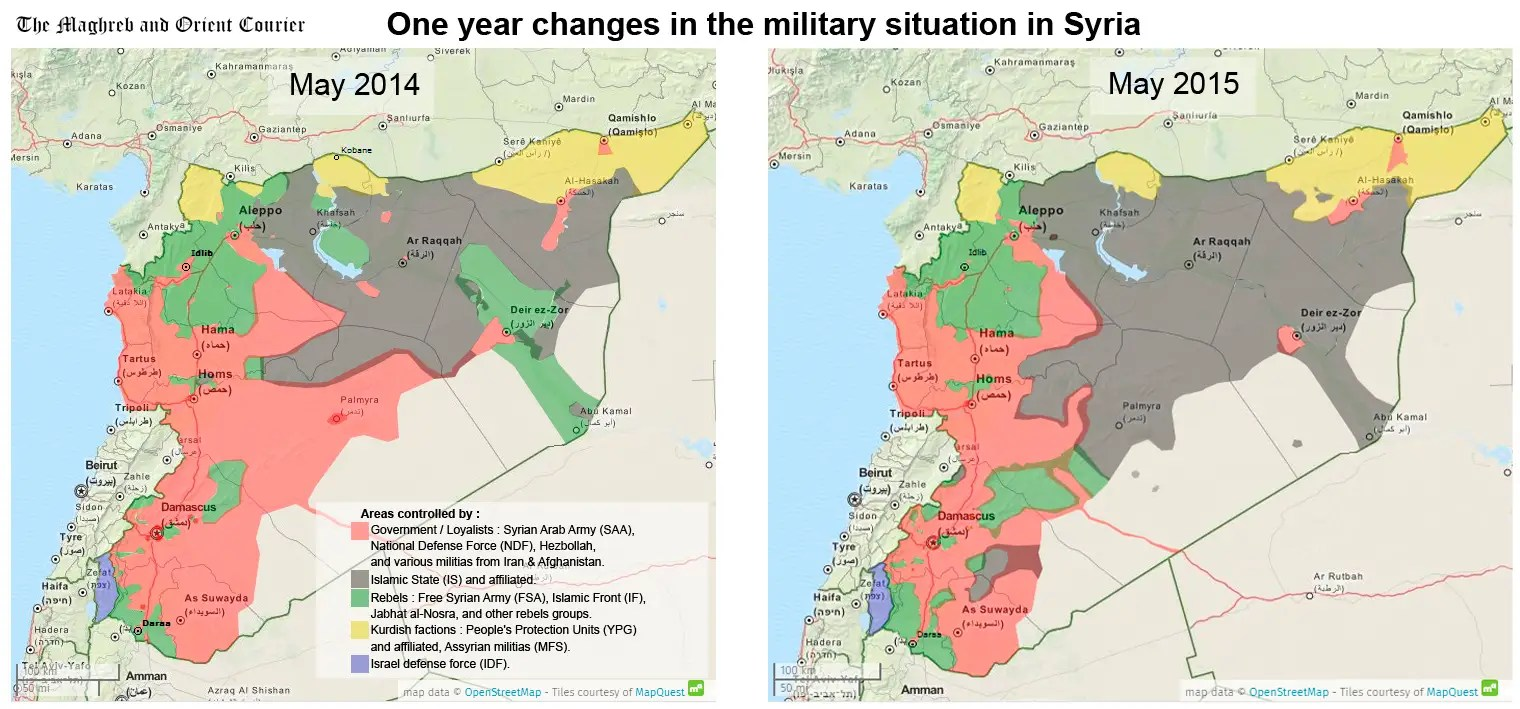 isis map syria 1 year