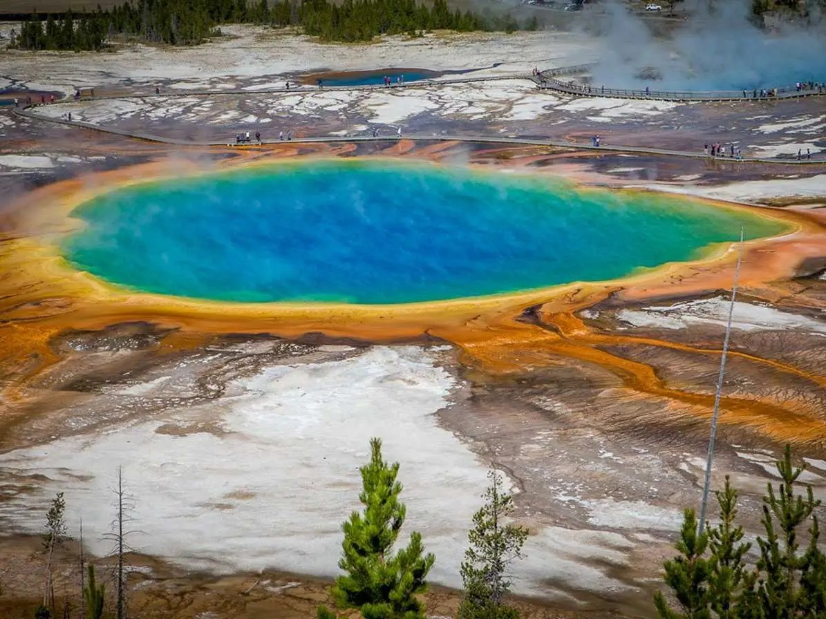 According to UNESCO, Yellowstone National Park, located in Wyoming and Montana, has half of the world's geothermal features with over 10,000 examples, as well as the world's largest concentration of geysers and an impressive variety of wildlife.