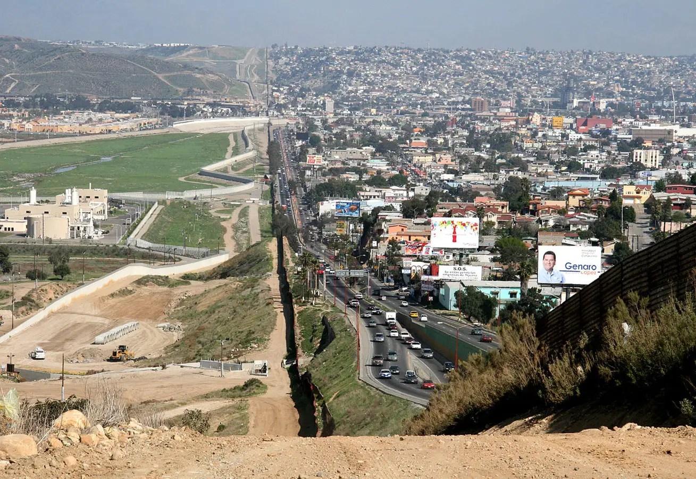 Mexico and USA border