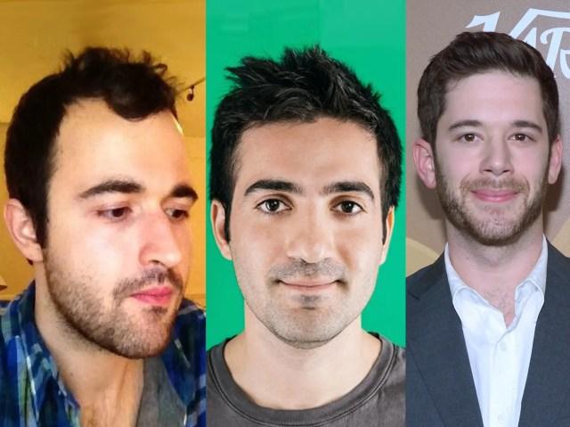 Vine cofounders Dom Hofmann, Rus Yusupov, and Colin Kroll