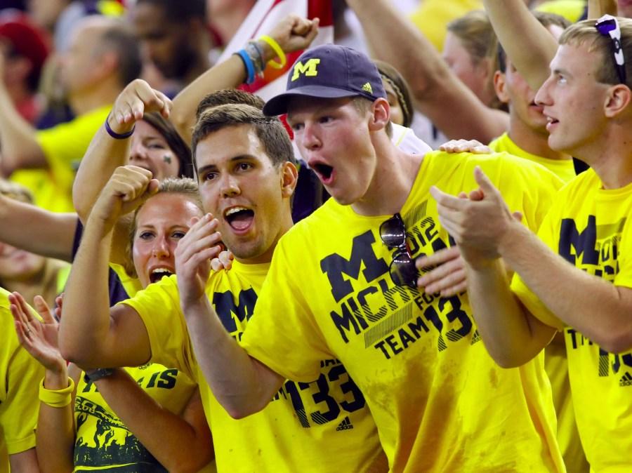 Michigan football fans