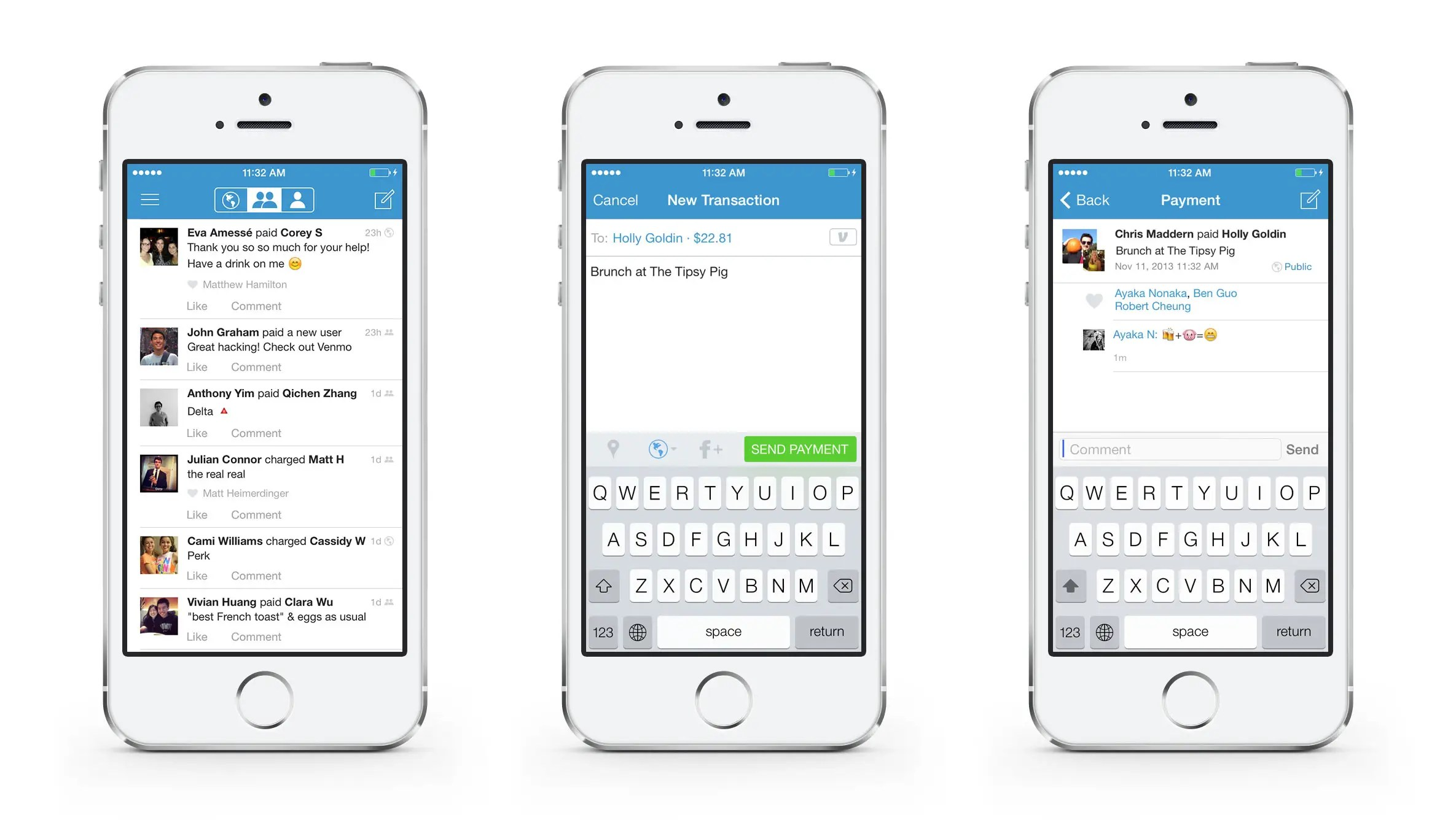 Venmo lets you send other people money.