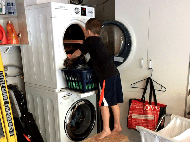 1. They make their kids do chores.