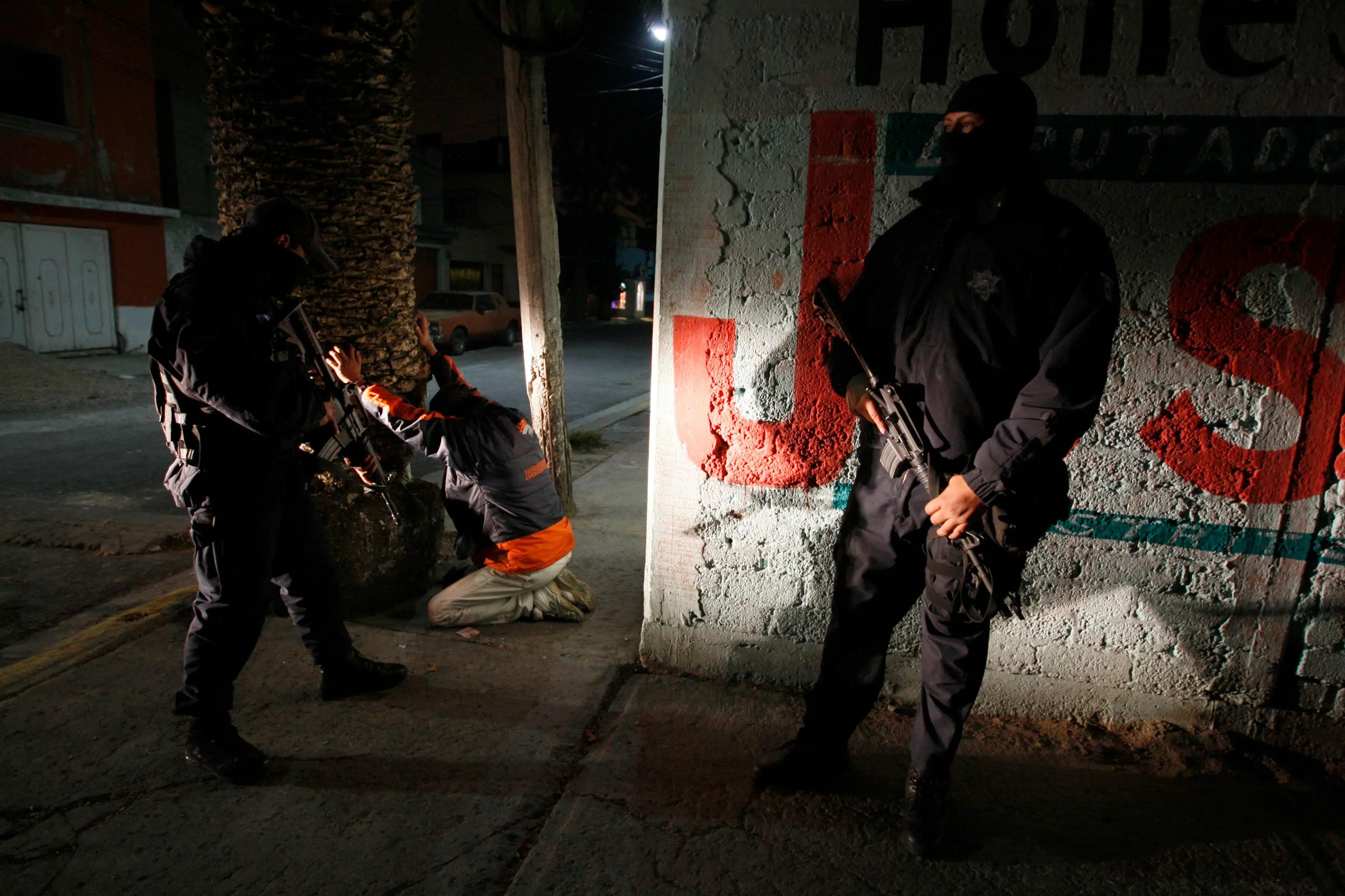 Ecatepec Mexico police crime arrest