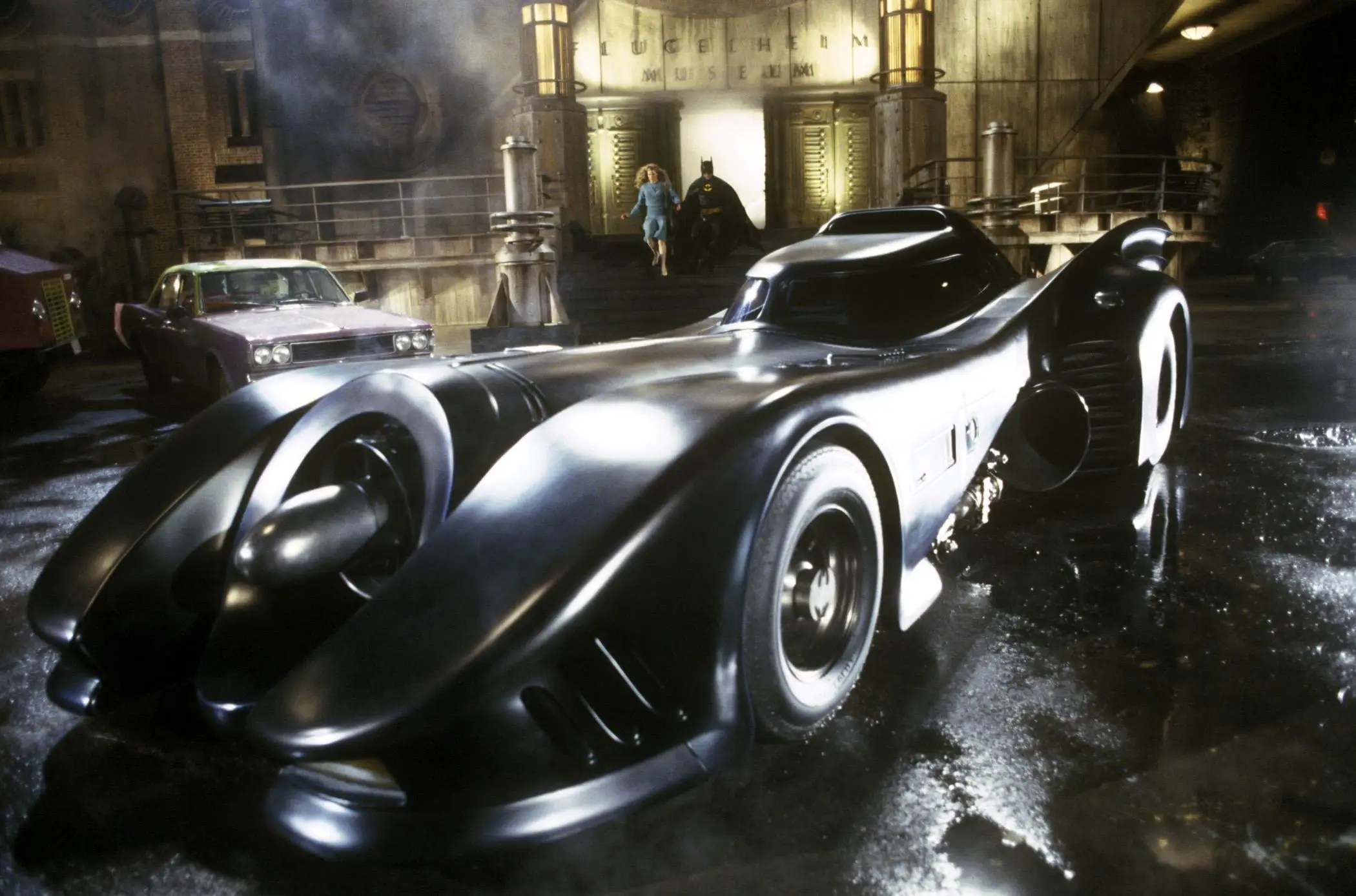 Tim Burton's live-action adaptation of the Batmobile from 1989 is very cool. It's sleek and imposing, and the jet-black exterior and polished finish really give off a sense of wealth, tying together Bruce Wayne and the Batman persona.