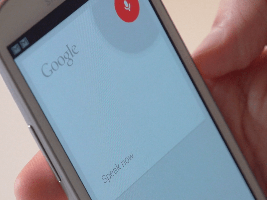 google now speak now screen