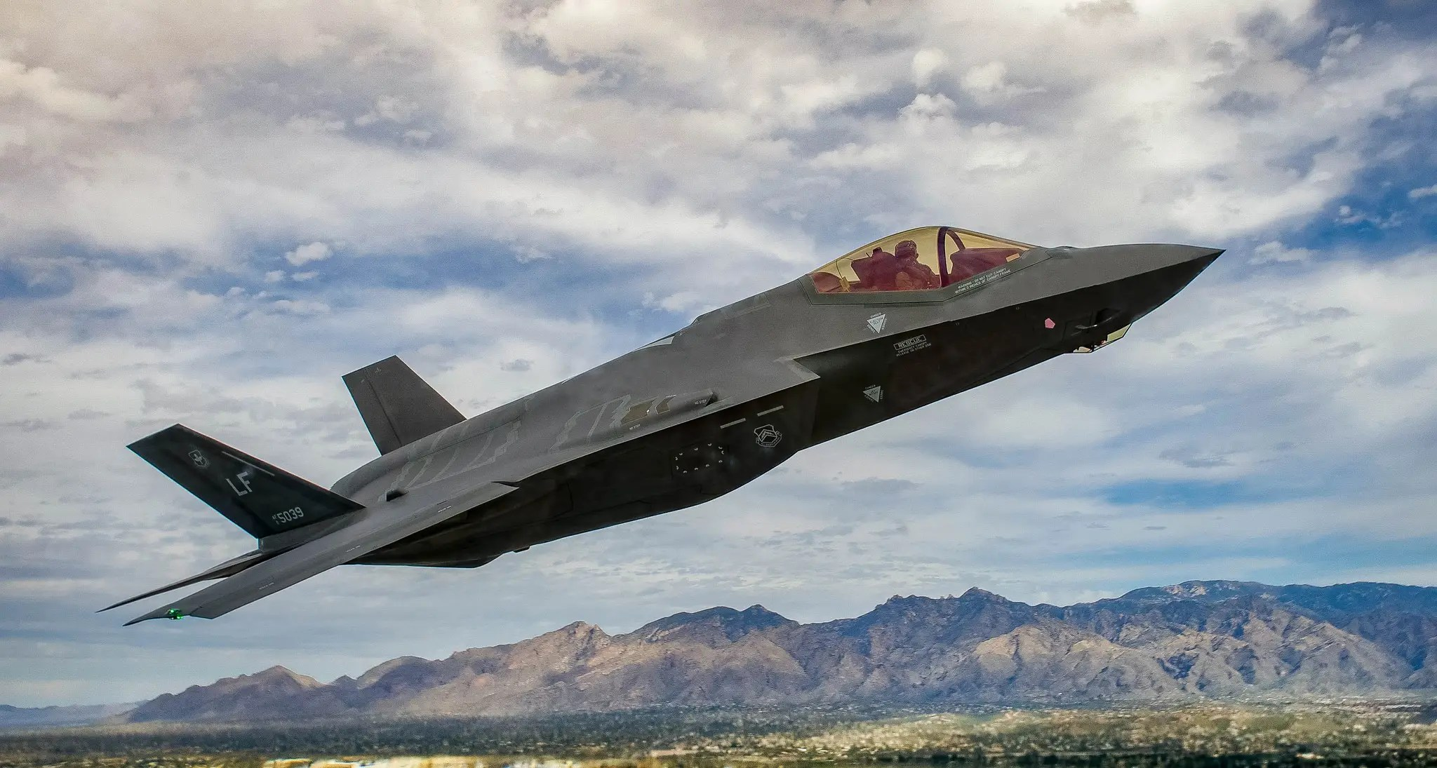 ... the F-35 Lightning II.