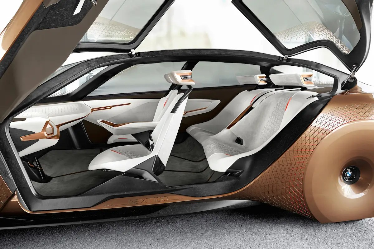 The fabric in the car is made from recycled materials.