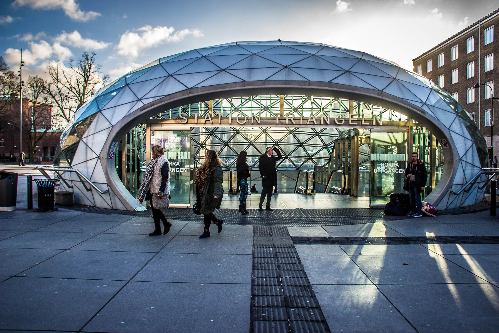 97. The Triangeln station in Malmö, Sweden, looks more like a portal into the future than a train.