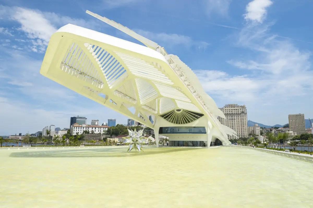 9. The Museu do Amanhã (Museum of Tomorrow) in Rio de Janeiro casts an impressive shadow thanks to its over-the-top neofuturist design.
