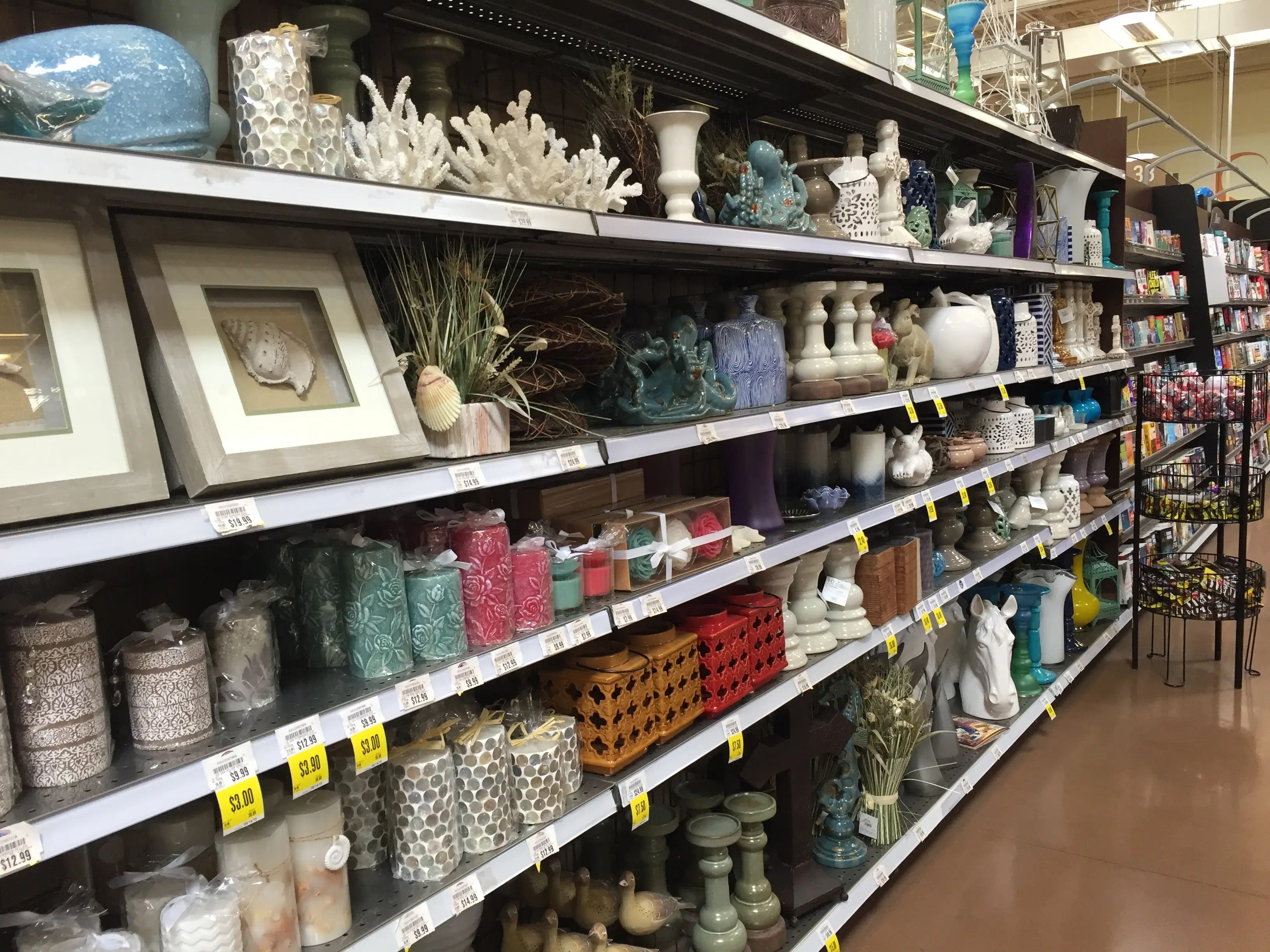 The store even offers a selection of home goods.