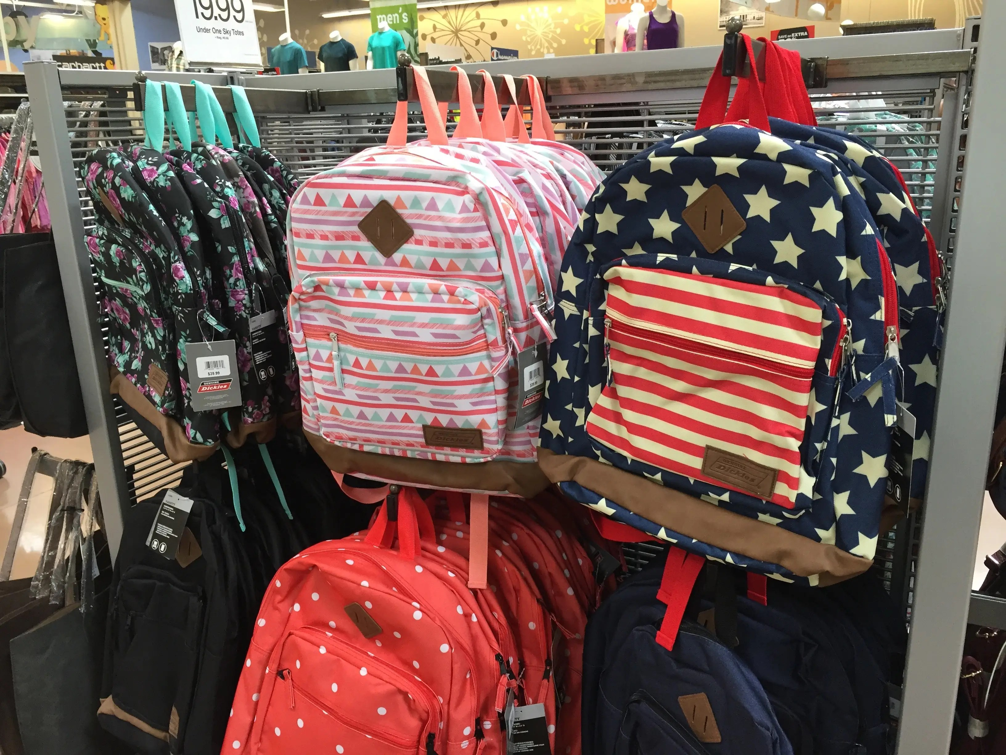 It offers back-to-school items like backpacks ...