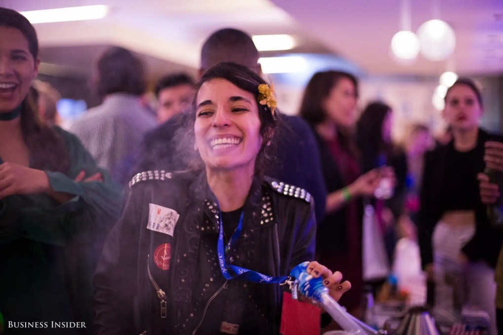 """Election night, the pot shop transformed into a green room where patients, activists, and """"ganjapreneurs"""" gathered to watch the results of California's Proposition 64 roll in."""