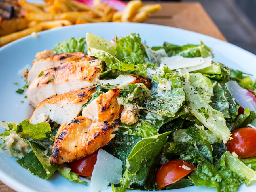 MAINE: Spinach Caesar salad