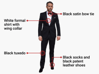 This is the only correct way for men to dress for a black ...