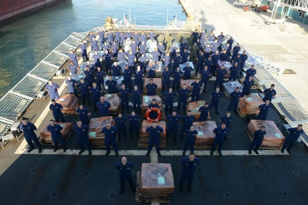 US Coast Guard cocaine drug seizure