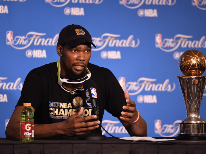 Kevin Durant Kevin Durant sparred with a former ESPN reporter on Twitter Kevin Durant sparred with a former ESPN reporter on Twitter gettyimages 695384920