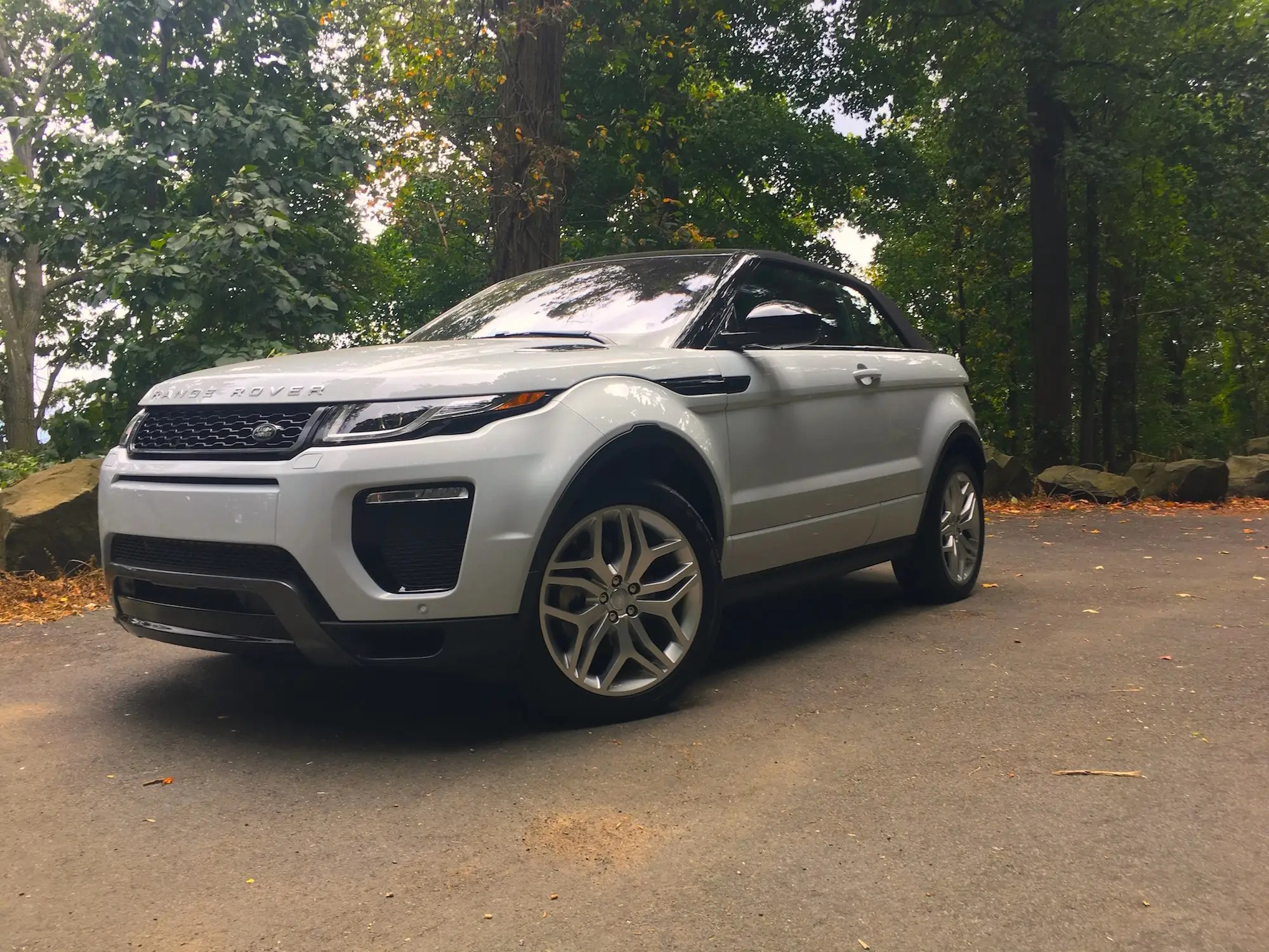 The Range Rover Evoque Convertible is a strange car with a lot of