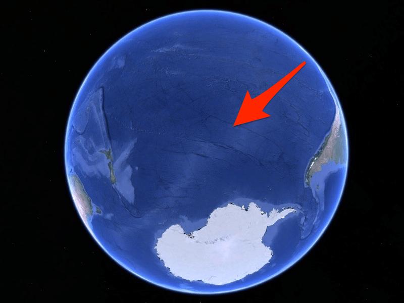 point nemo oceanic pole of inaccessibility google maps usgs nasa noaa labeled thumb