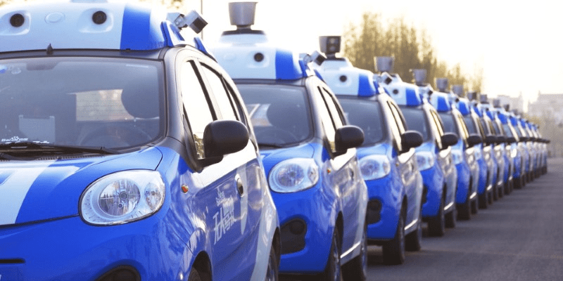 A fleet of vehicles equipped with Baidu's autonomous driving technologies conduct road testing in Wuzhen, Zhejiang Province, China in an undated photo.   Courtesy of Baidu/Handout via REUTERS
