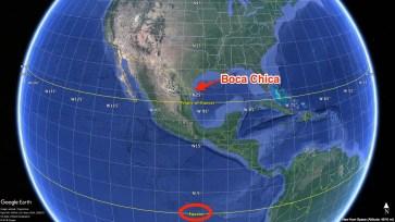 2018: Construction d'un centre d'aide au lancement à Boca Chica, une ville située près de Brownsville, au Texas.
