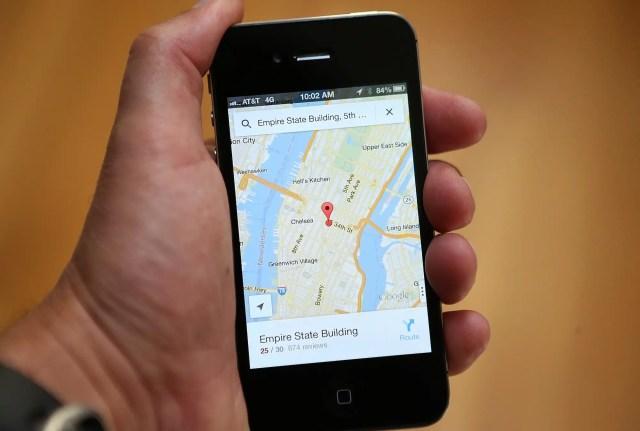 google maps iphone gps