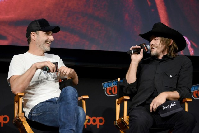 andrew lincoln norman reedus nycc 2018 walking dead