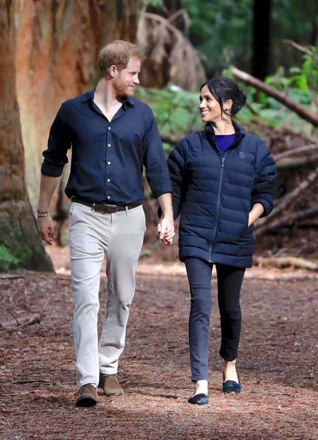 meghan markle wears prince harry jacket royal tour