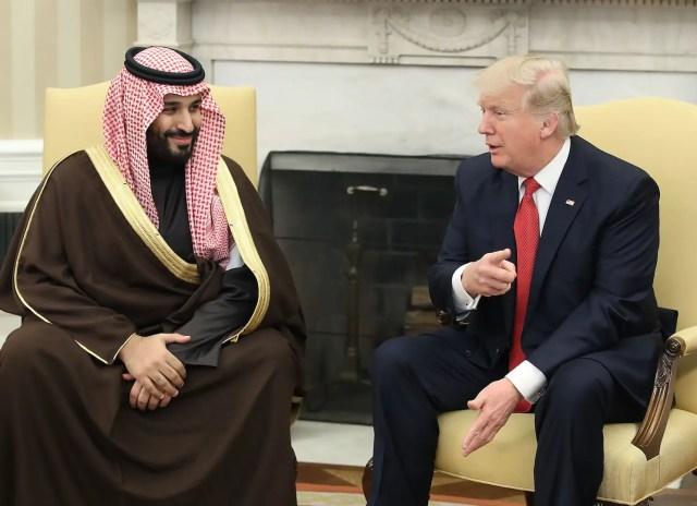 Donald Trump Mohammed bin Salman MbS