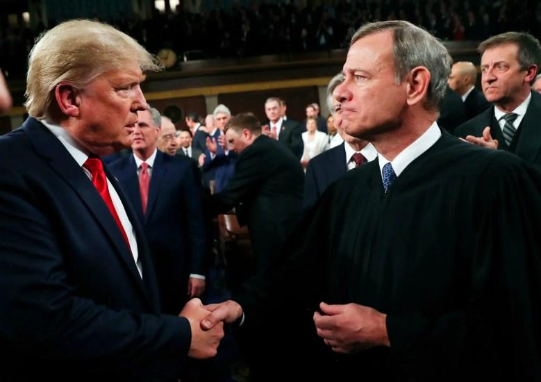 donald trump chief justice john roberts supreme court
