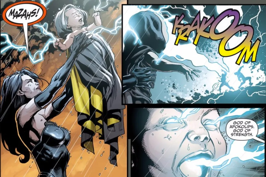 Superwoman e o Bebê Darkseid em arte de Jason Fabok.