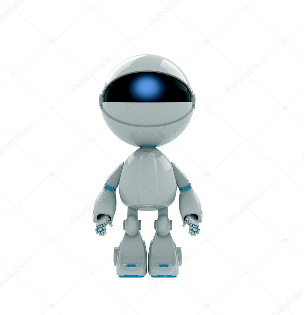 cute robot toy stock