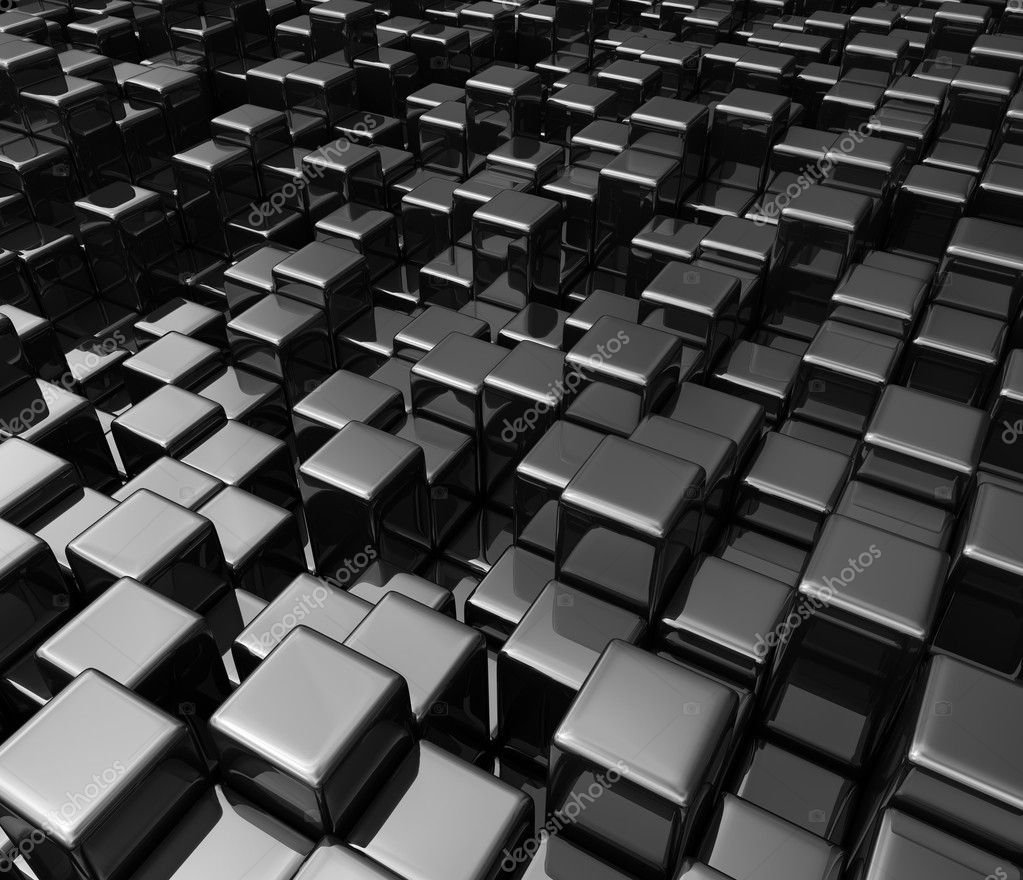 3d Geometric Shapes Wallpaper White Black Boxes Background Stock Photo 169 Wir0man 1221558