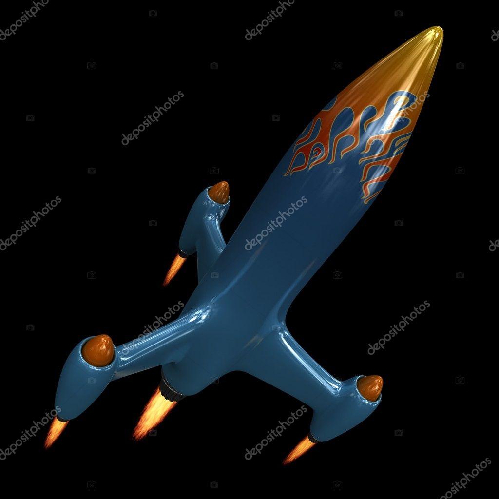 Blue Rocket Ship