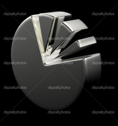 3d circular diagram on black stock photo [ 1024 x 1024 Pixel ]