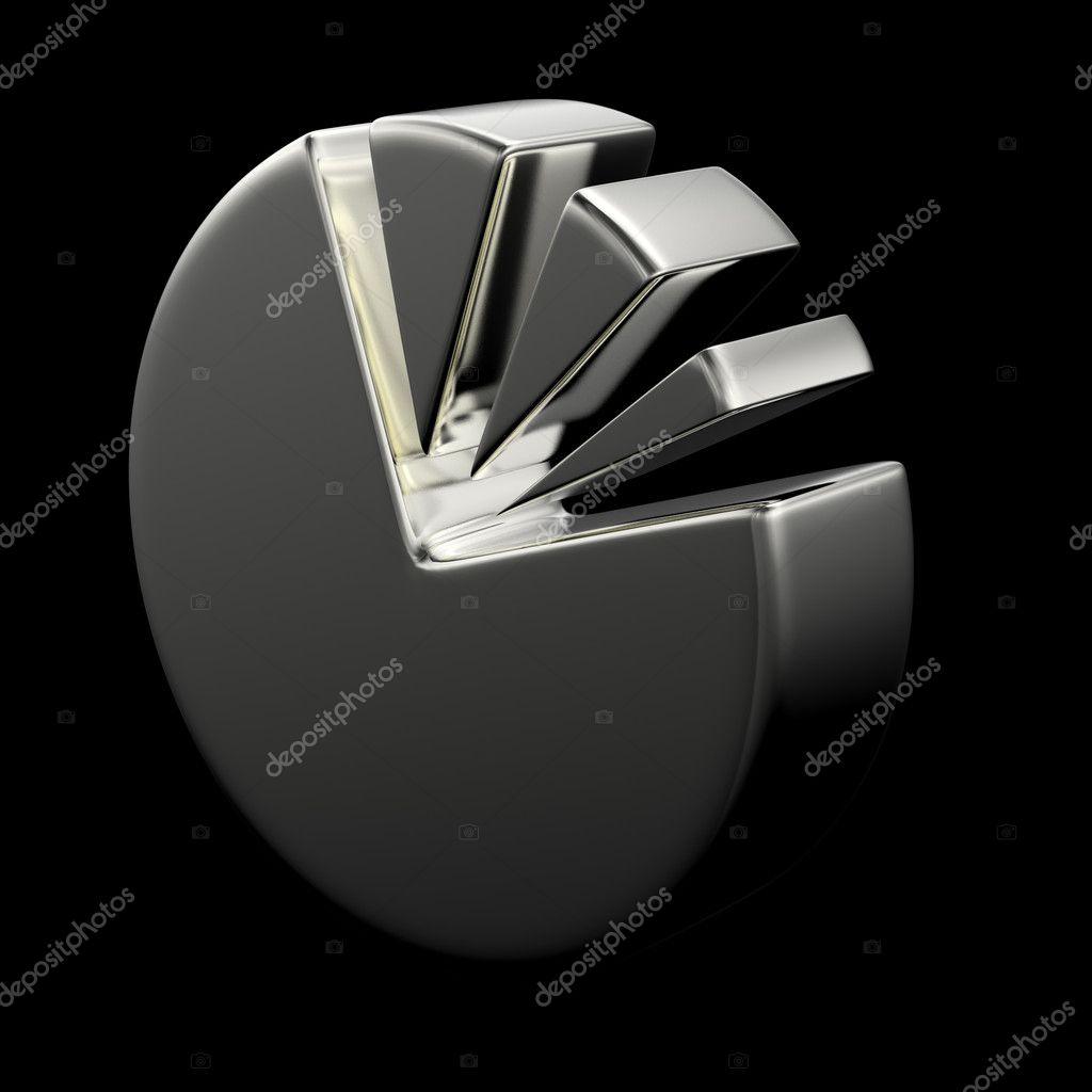 hight resolution of 3d circular diagram on black stock photo