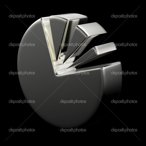 small resolution of 3d circular diagram on black stock photo
