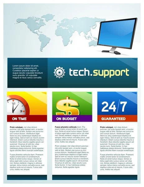 Tech support brochure cover  Stock Vector  vittore 1194219