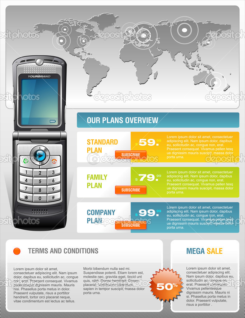Veronica's Blog Cell Phone Flyer Template