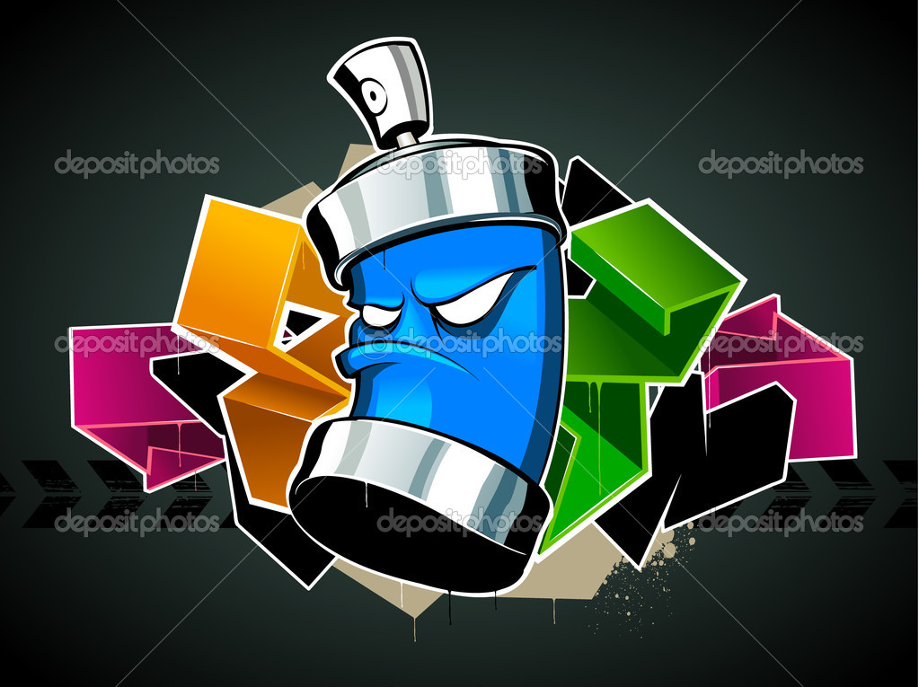 Cool Graffiti Image Stock Vector Vecster 1391181
