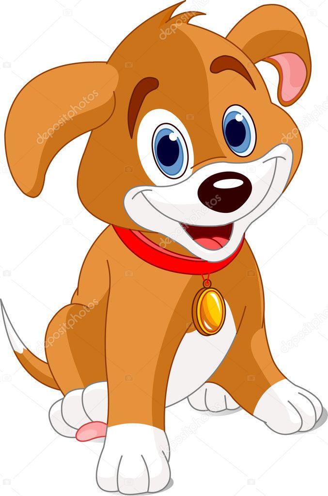 Cartoon Puppy Pictures : cartoon, puppy, pictures, Puppy, Vector, Image, Dazdraperma, Stock, 2409389