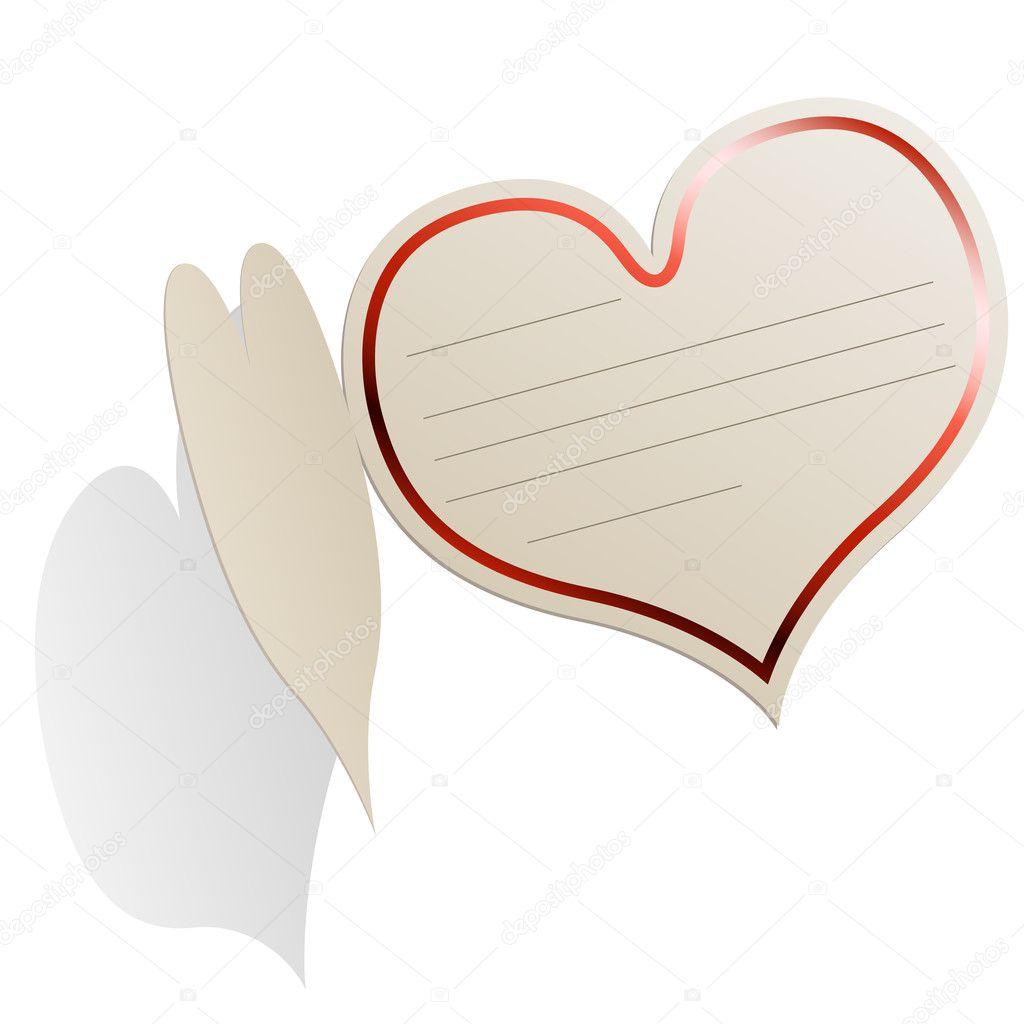 Heart Shaped Blank Valentine