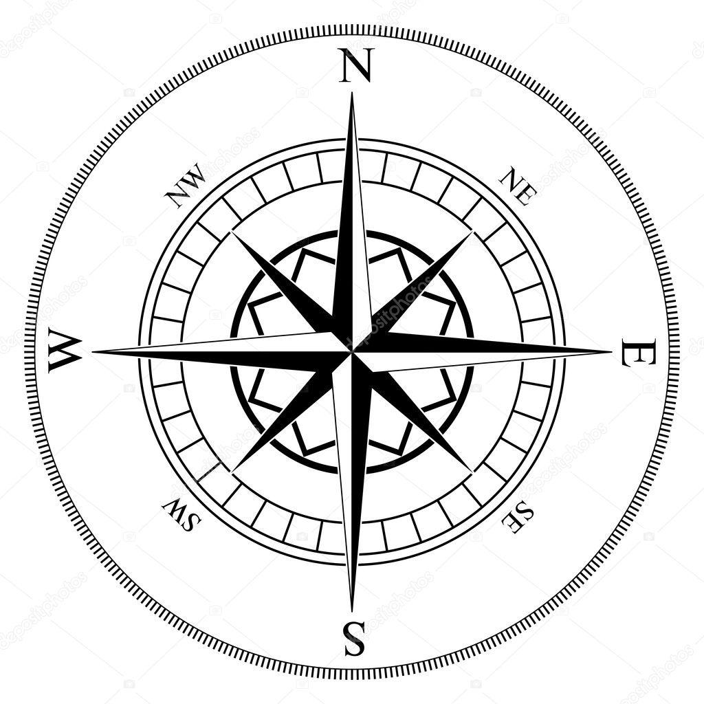 Compass wind rose — Stock Vector © tuulijumala #2376693