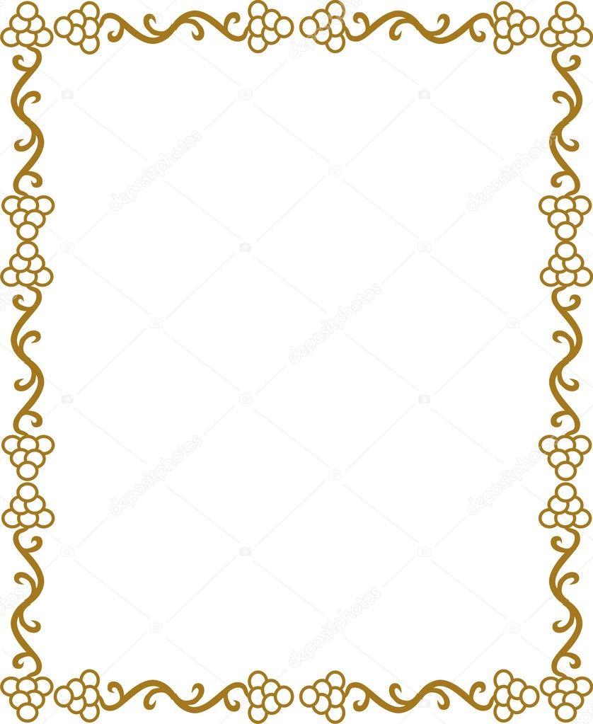 Borde Dorado Archivo Imgenes Vectoriales SHAZAD 1462305