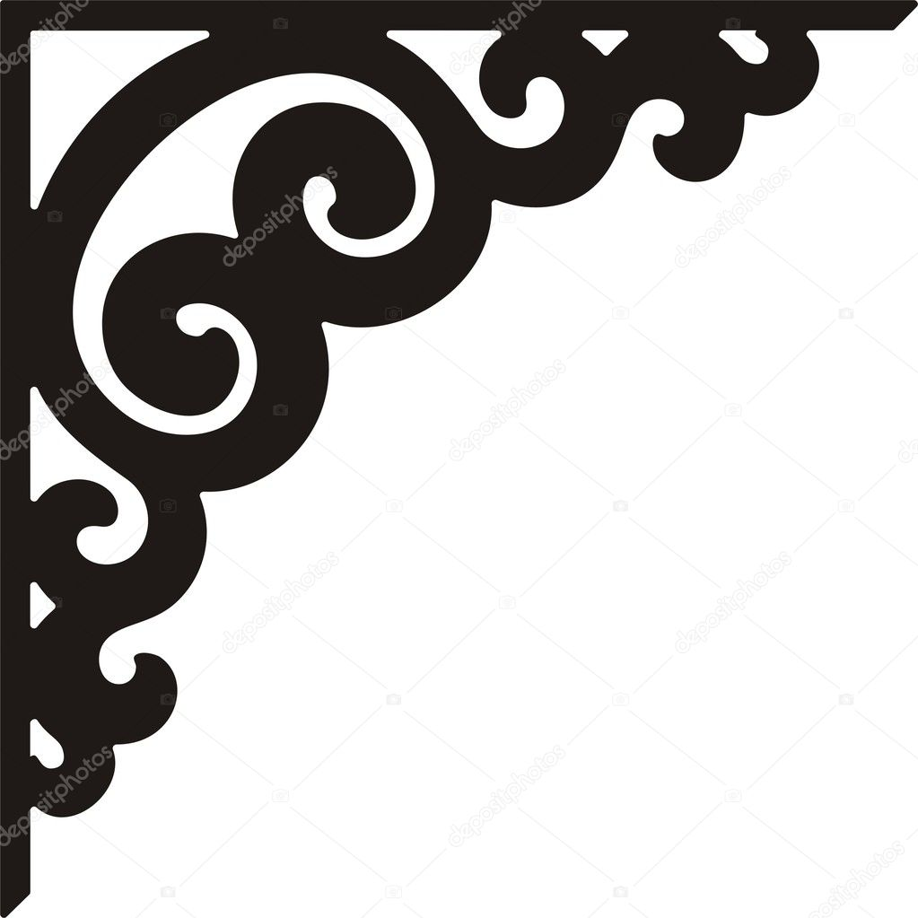 corner border design stock
