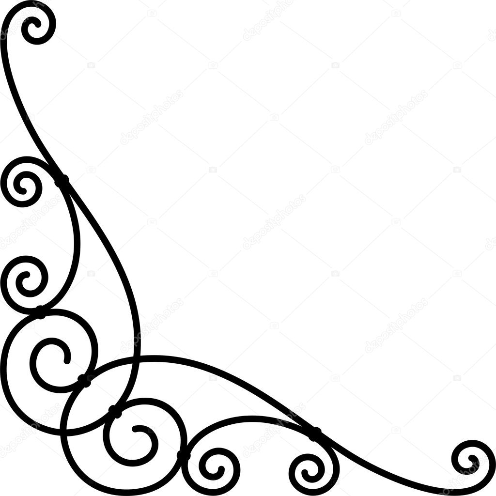 Beautiful Corner Border Designs Corner Border Design Stock Vector C Riazwork 1529197