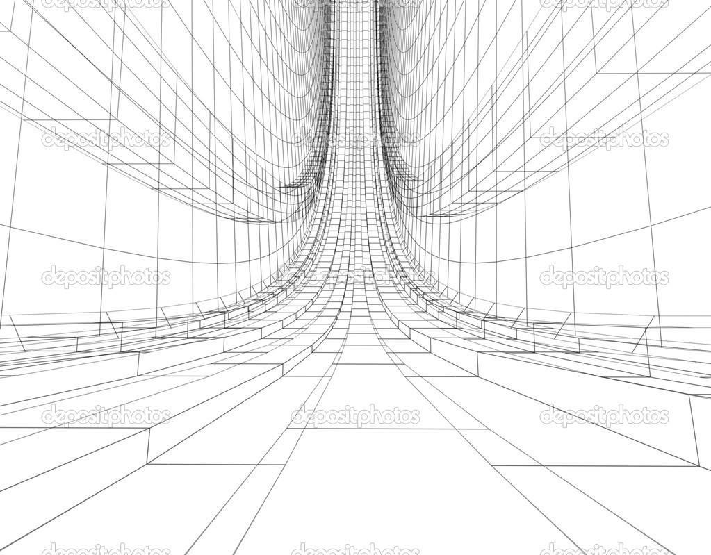 Abstract wireframe construction — Stock Photo © ArtyFree
